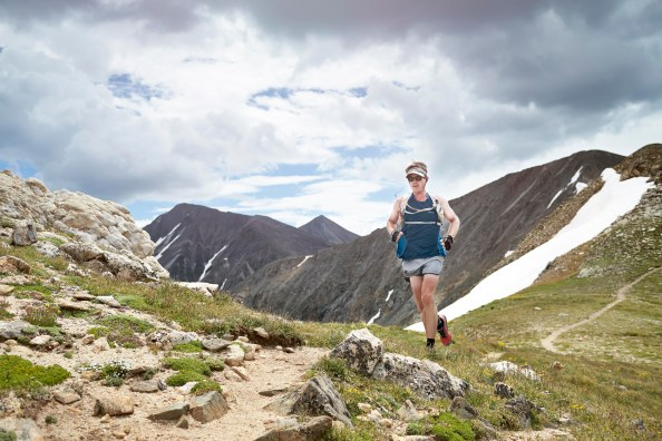 Running 6 peaks in 5 hours above 13,000' on the Continental Divide, Summer 2014. Photo: Andrew Maguire