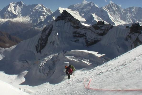 Ben Clark on Thorung Peak 2010